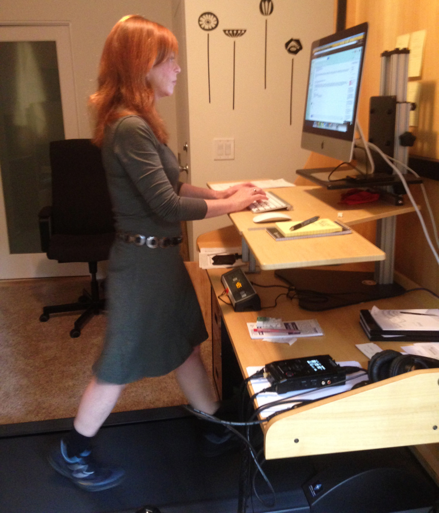Take Two  Test driving the office treadmill desk with