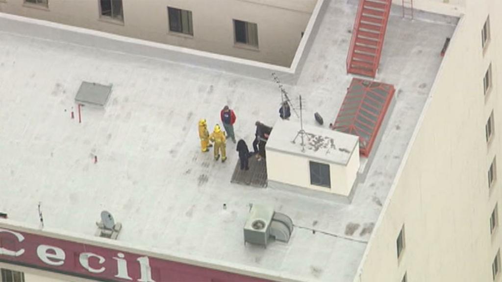 Update Body of woman in water tank of LA hotel where