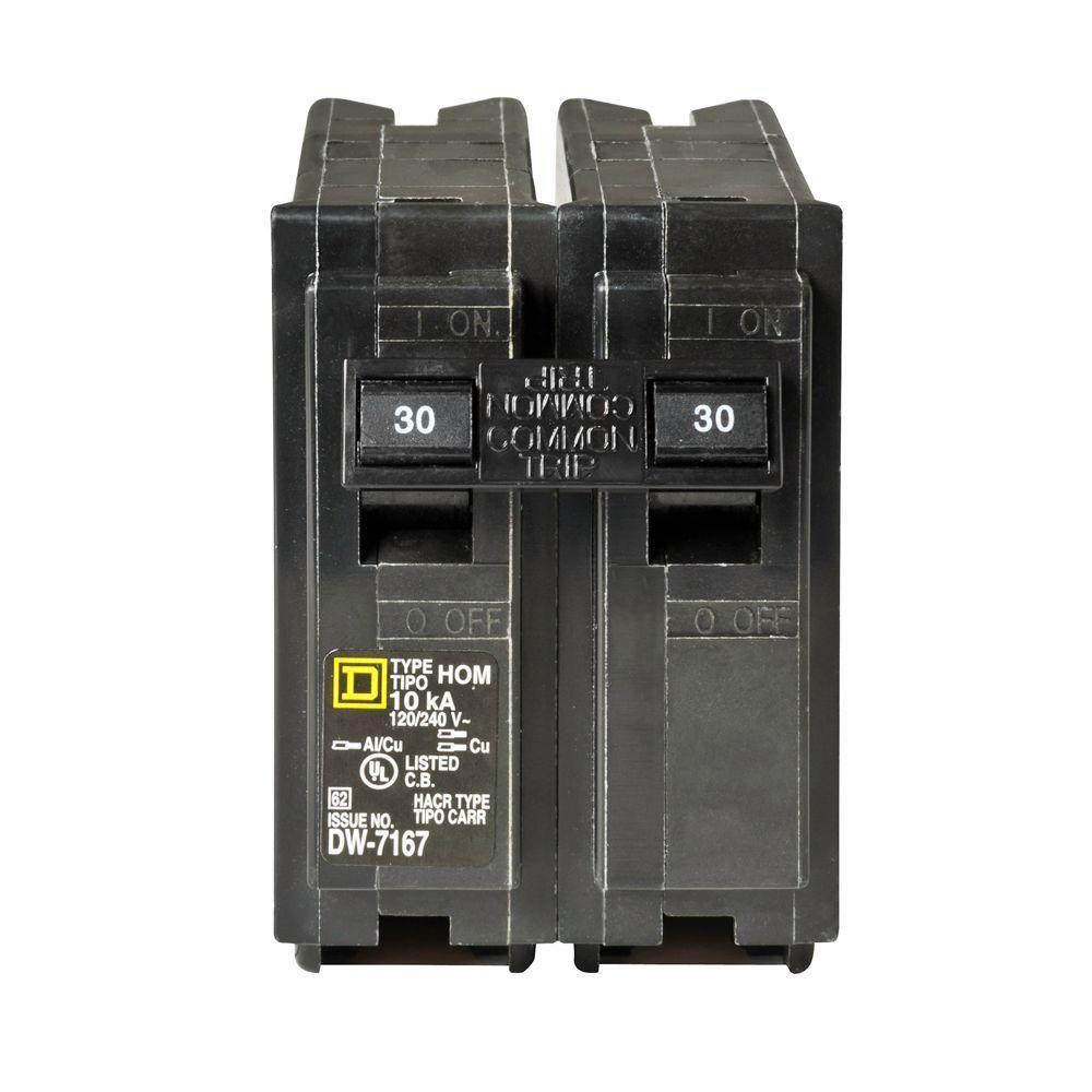 medium resolution of square d homeline 30 amp 2 pole standard trip circuit breaker atsquare d homeline 30 amp