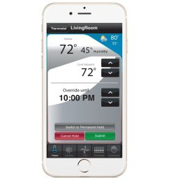 use your smartphone to manage your smart thermostat  [ 1000 x 1000 Pixel ]