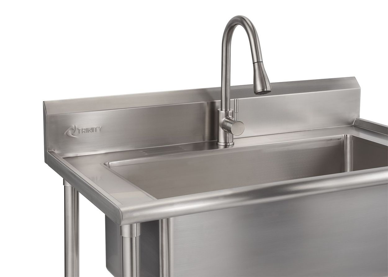 details about trinity 32 x16 utility sink