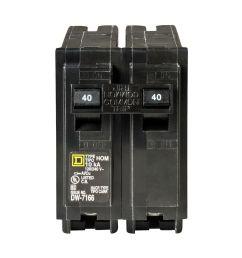 square d homeline 40 amp 2 pole standard trip circuit breaker at d box fuse 30 amp square [ 1000 x 1000 Pixel ]
