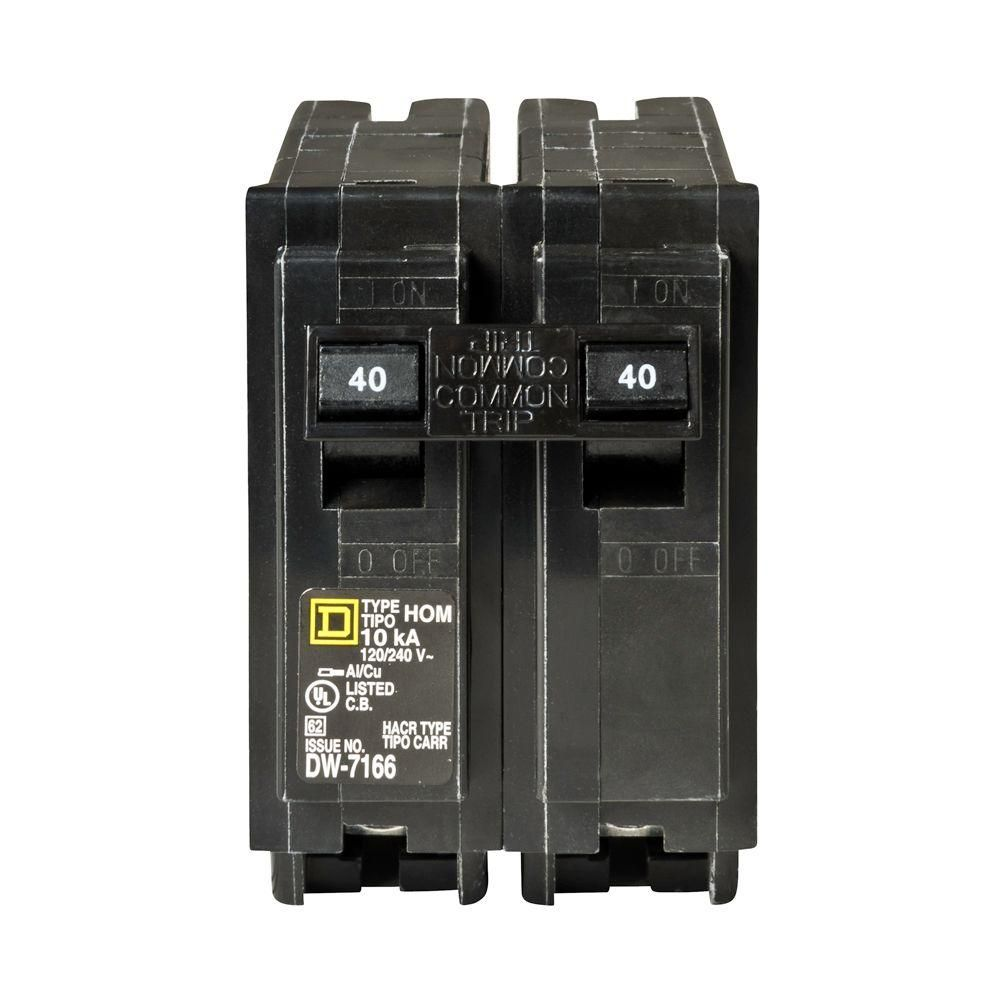 hight resolution of square d homeline 40 amp 2 pole standard trip circuit breaker at d box fuse 30 amp square