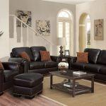 Preston 4 Piece Top Grain Leather Living Room Set