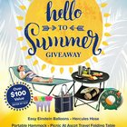 """Say Hello to Summer"" Giveaway including a hammock, portable table, Hercules hose and more! - 3 winners {US} (06/21/2017)"