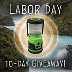 Win an LED Duro Lantern that stays lit for 10 days (9/2)
