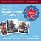 Win a Trip for 4 to the Macy's Thanksgiving Day Parade (Airfare and Hotel Included) {US} (11/8/2018)