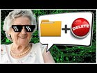 grandma pranks tech support scammer and deletes his files