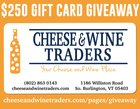 Cheese & Wine Traders $250 Gift Card Giveaway - 10/31/18 {US}