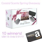 Coastal Scents Spring Giveaway - Win A Beauty Set + $100 Amazon Gift Card - 10 Winners! {US} (5/31/2017)
