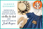 Win a $100 gift card to Jack Rogers & $100 gift card to Stella & Dot!{US} 6/16/17