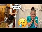 Crying The Bathroom Prank (Shane and Liana)