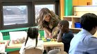 FLOTUS Meets Military Children at Joint Base Andrews.Very Cute!