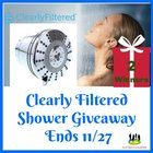 Clearly Filtered Shower Giveaway 2 Winners! (11/27/18) {US}