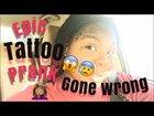 Face tattoo prank