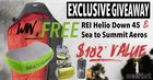 win REI & Sea To Summit gear for FREE ($182 Value){us uk ger} ends 7/30