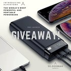 Win the World's most Powerful and Portable Powerbank! 30,000mAH and Airplane Safe! 3 WINNERS (07/04/2019) {??}