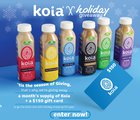 WIN a month's supply of Koia and a $150 gift card {US} (12/25/2019)