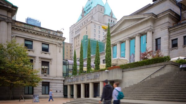 Historic Buildings View Of Vancouver Art