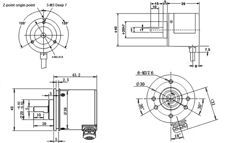 China incremental encoder,shaft 6mm encoder,40mm rotary