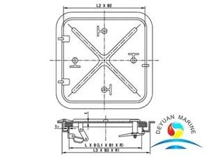 QL-403 Alummium Sunk Type Watertight Hatch Cover (With