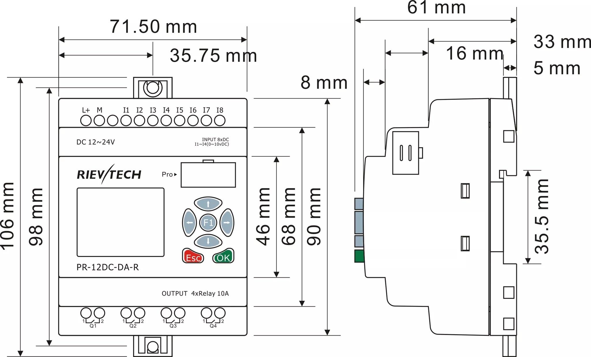 wiring diagram plc siemens ez loader trailer pr 12dc da r buy micro logo intelligent