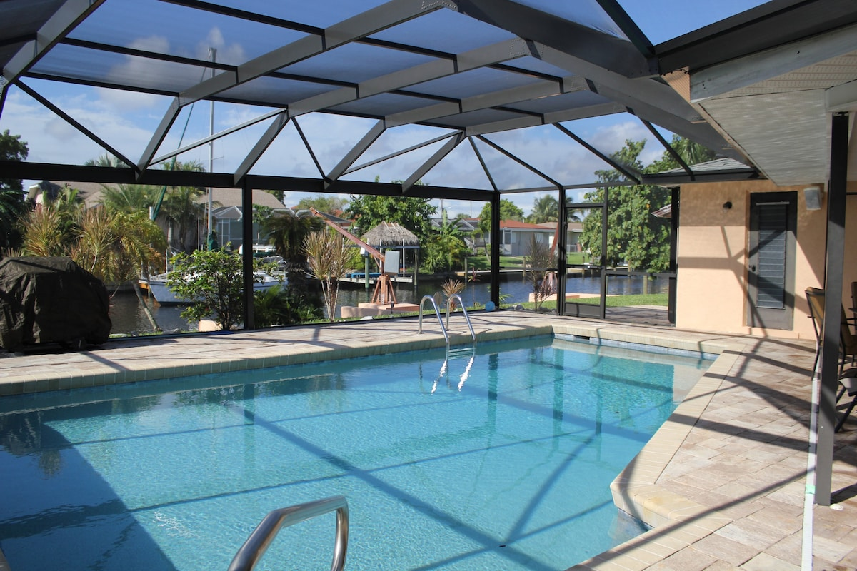 Pool Home on A Canal with Ping Pong  Houses for Rent in Cape Coral Florida United States