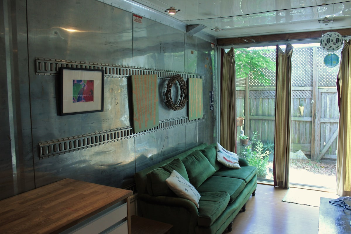 Cute Shipping Container Tiny House 400 Sqft Tiny