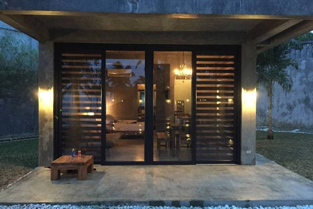 Front view of your home. Specially designed blinds can be adjusted for full view or complete privacy