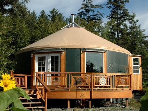 A Homer Roundhouse W Mountains Bay Volcano View Dome