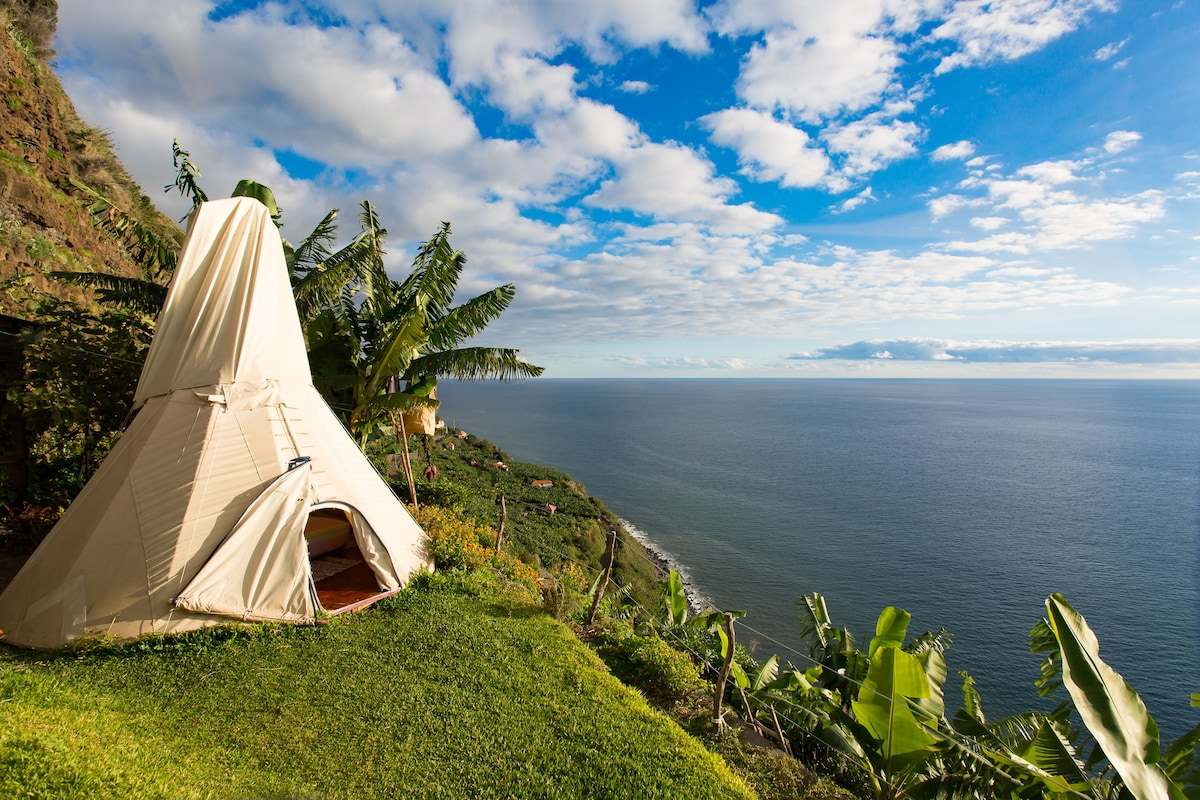 Glamping in a Hidden Paradise  Tipis for Rent in Ponta do Sol Madeira Portugal