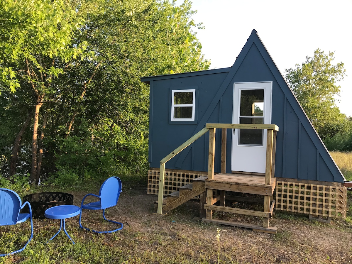 Social Distance In An Off Grid A Frame Cottage Tiny