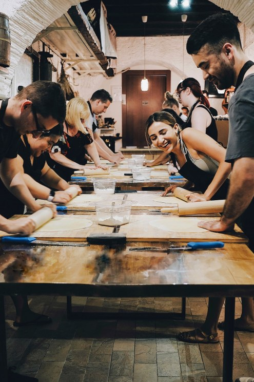Pasta making class in Rome, Italy