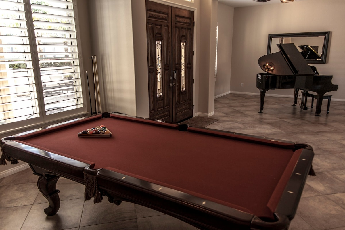 Pool table and Piano