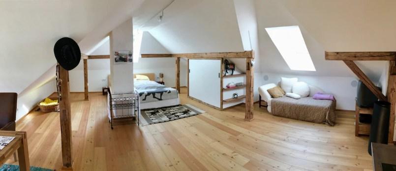 Doppelbett, Schlafsofa, Schrank