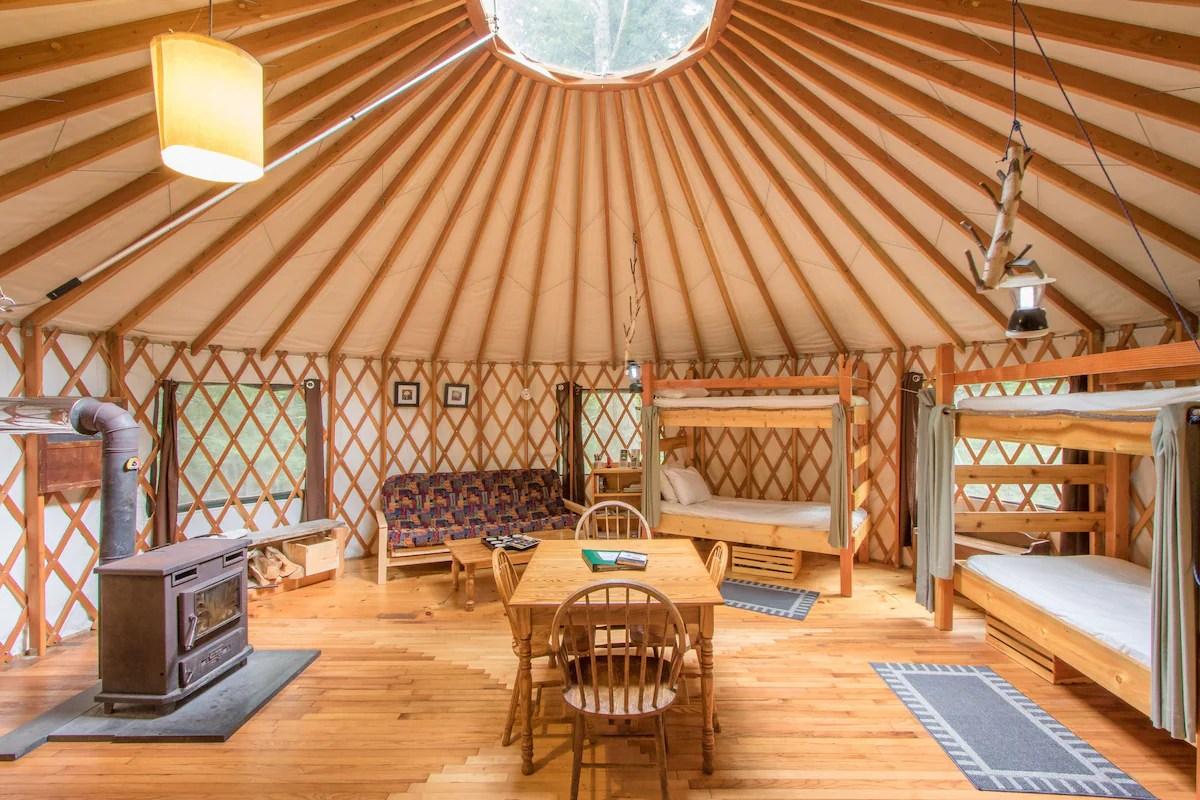 Fisher Ridge Yurt  Yurts for Rent in Durham Maine