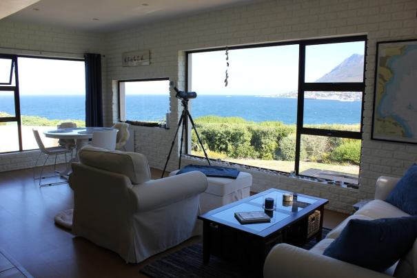 Family room with full view of Simonstown and False Bay!