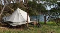 Cliff top tent on wooden platform - Tents for Rent in Ko ...