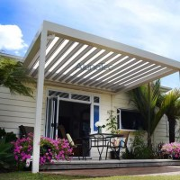 Electric Aluminium Pergola Louvered Patio Cover Systems ...