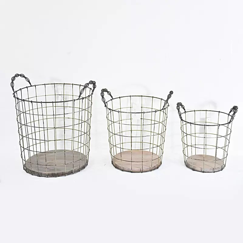 Stackable Bulk Recycled Decorative Round Rustic metal Wire