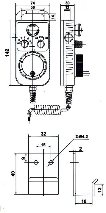 China CNC Manual Pulse Generator,100 pulse Manual Pulse