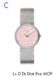 Dior Pink MOP & Diamond Satine Watch