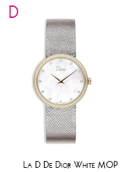 Dior White MOP & Diamond 2 Tone Watch