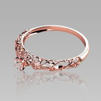 The most beautiful wedding rings: Rose gold womens wedding ...