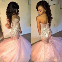 Sexy Prom Dresses 2016 Sparkle Sequined Tulle Mermaid Long ...