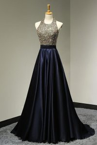 Halter Backless Beading Prom Dress,Long Prom Dresses,Prom ...