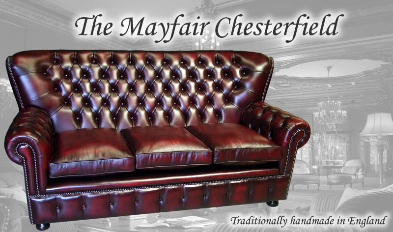 high back chesterfield sofa red painted table the mayfair collection a1 furniture enfield 3 seat in antique leather