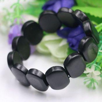 Браслет Бяньши - из черного метеоритного камня