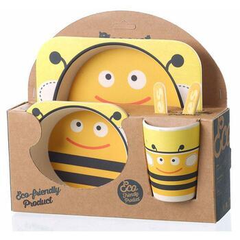 Безопасная детская посуда из бамбука Happy Kids