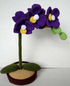 orchidée, crochet, tricot, skymagenta, bastet, hellocoton,